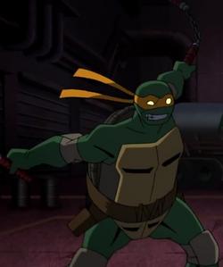 Batman vs tmnt - michelangelo.png