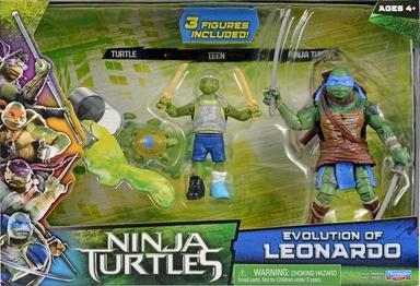 Evolution of Leonardo (2014 action figure set)
