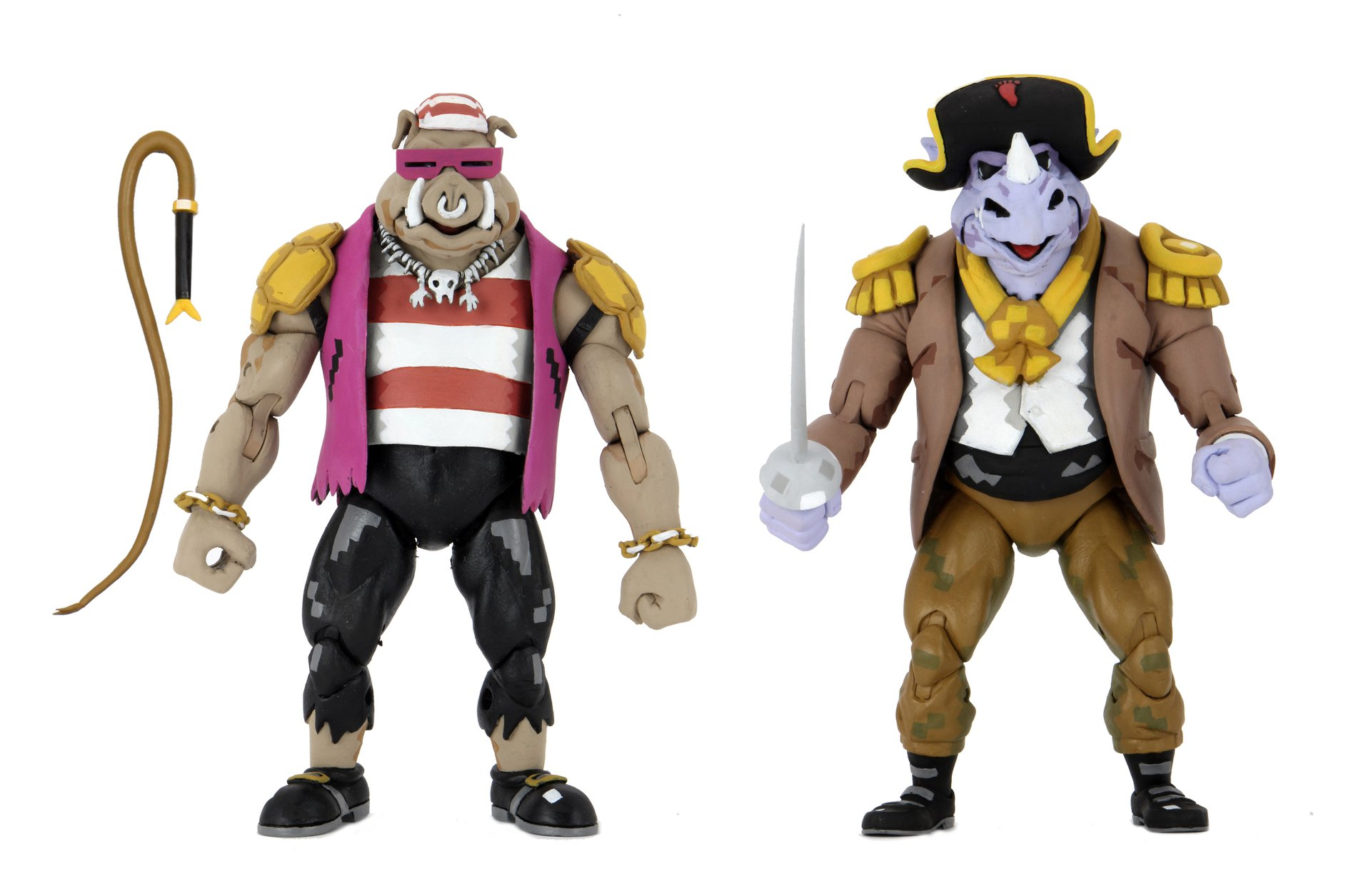 Turtles in Time Pirate Rocksteady and Bebop (2021 action figures)