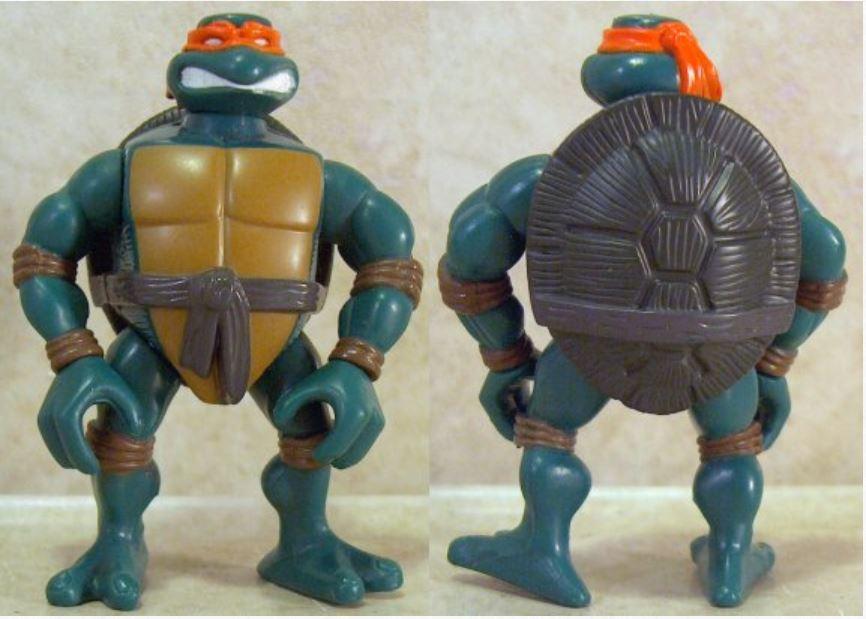 Mini Ripped-Up Michelangelo (2005 mini figure)