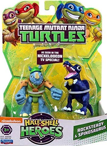 Half-Shell Heroes Rocksteady & Spinosaurus (2015 action figures)