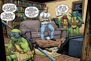 Turtles and Hob examine Mutanimals HQ