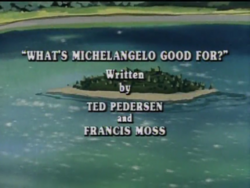 What's Michelangelo Good For? Title Card.png