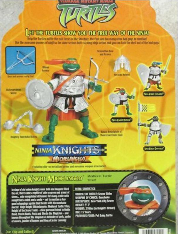 Ninja Knights Michelangelo (2004 action figure)
