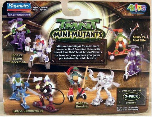 Mini-Mutants Extreme Sports Leonardo & Jammerhead (2008 mini-figures)