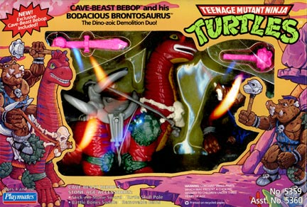 Cave-Beast Bebop with his Bodacious Brontosaurus (1994 action figures)