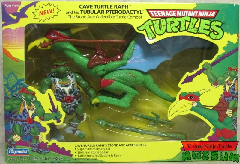 Cave-Turtle Raph with Tubular Pterodactyl (1993 action figure pack)