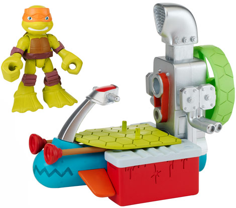 Half-Shell Heroes Sewer Cruiser with Diver Mikey (2014 toy)