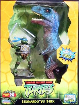 Leonardo vs T-Rex (2004 action figure set)