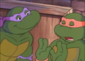 Donatello Talks To Michelangelo