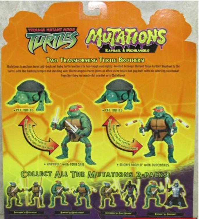 Mutations Michelangelo and Raphael (2004 action figure)