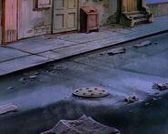 Turtles manhole night