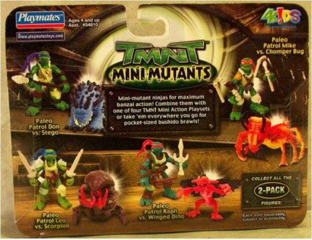 Mini-Mutants Paleo Patrol Leonardo vs. Scorpion (2008 mini-figures)