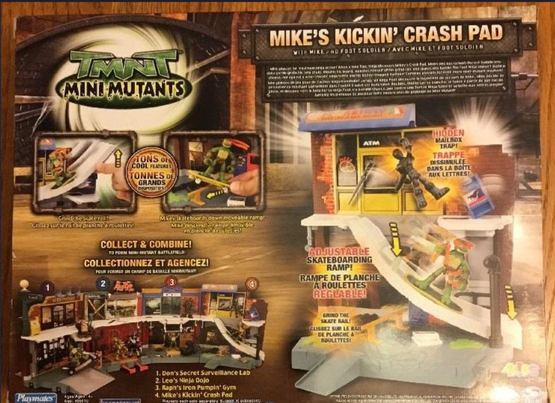 Mini-Mutants Mike's Kickin' Crash Pad with Mike Foot Soldier