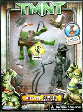 Mike vs. General Serpiente (2007 action figure set)