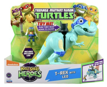 Half-Shell Heroes T-Rex with Leo (2016 action figure)