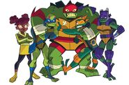Turtles and april rise of the tmnt by lullabystars-dcfsgko