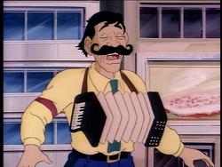 Alfredo playing the accordion.