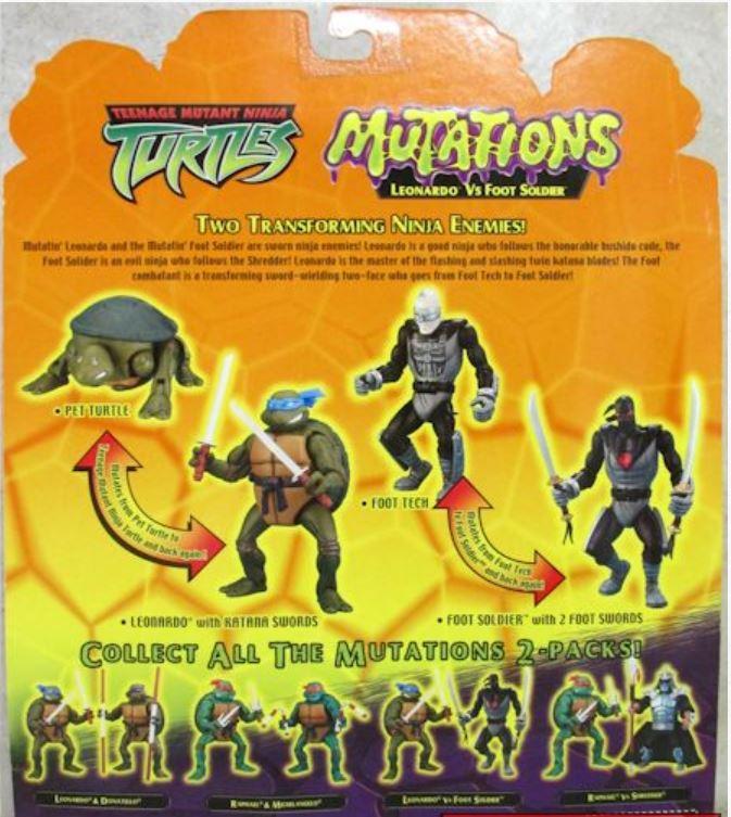 Mutations Foot Soldier Vs. Leonardo (2004 action figure)