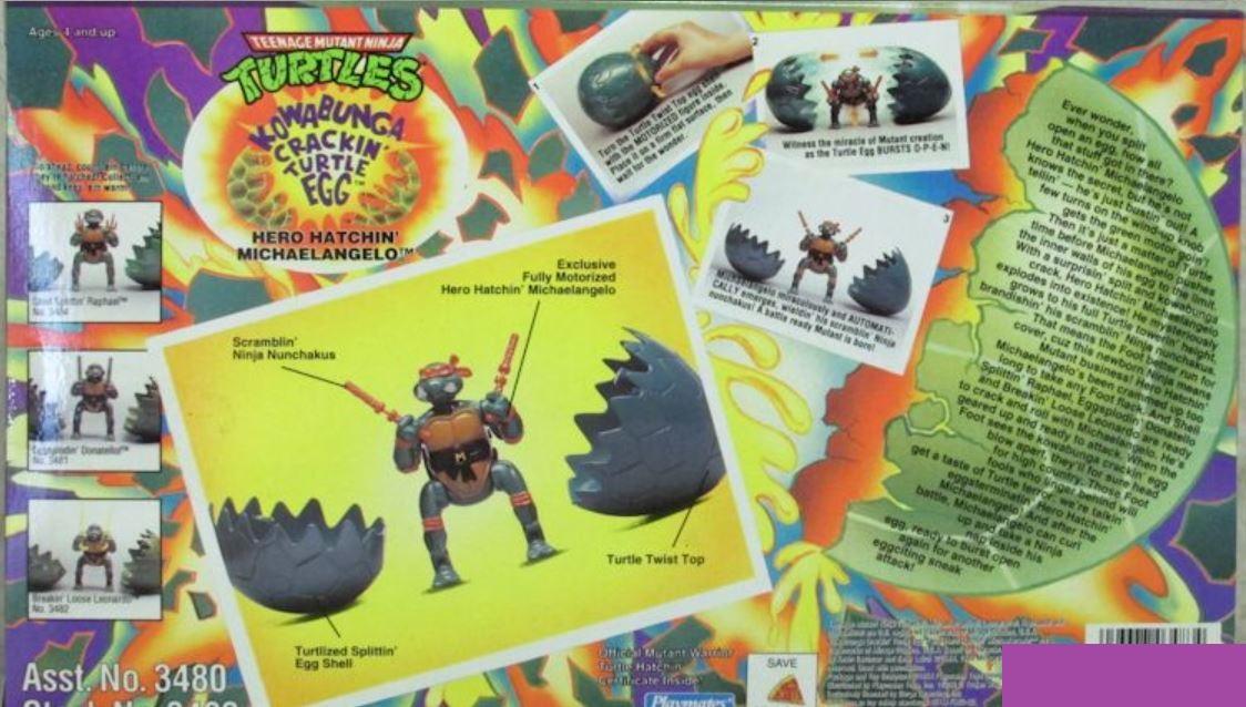 Hero Hatchin' Michaelangelo (1994 action figure)