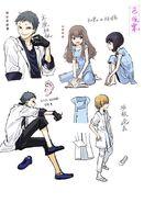Dark Matter manga designs