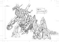 Design of Kuriba Ryouko Doppelganger's Giant Puppet