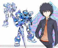 Kamijou Touma & Temjin 707 (Virtual-On game)