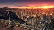 Academy City - Sunset
