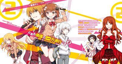 Toaru Idol no Accelerator-sama Manga v02 Cover Spread