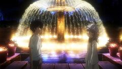 MeigoArisa KamijouTouma at the fountain