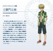 Prename - Tsuchimikado Motoharu, Index Anime Design