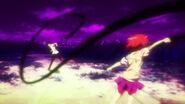 Misaka fighting Touma
