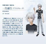 Diseño de Accelerator Anime Index