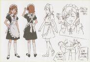 Diseño de Mikoto en traje de sirvienta
