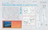 Diseño de Touma Anime Railgun DVD y BD