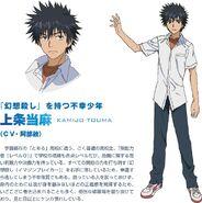 Diseño de Touma Anime Index