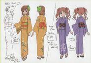 Diseño de Mikoto y Kuroko en kimono