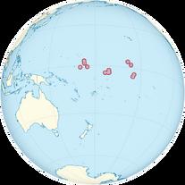 Kiribati on the globe (Polynesia centered).png