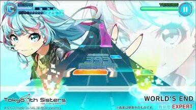 Tokyo_7th_シスターズ_リズムゲームリニューアルプレイ動画(WORLD'S_END_最高難易度EXPERT)