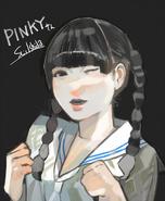 Ishida's illustration of normal Ayane Fujisaki