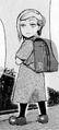 Akira as a child wearing a satchel