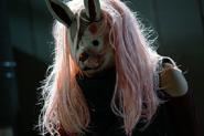 Touka wearing her Rabbit mask