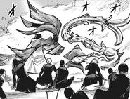Touma and Shinsanpei protects S3 Squad with their kagunes