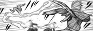 Renji attacking Oggai with his kagune