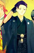 Urie mentre indossa uno yukata