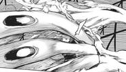 Akira blocks Tatara's fire with Fueguchi Two