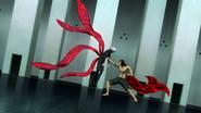 Kaneki being impaled by Shachi in anime
