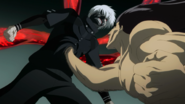 Shachi impales Kaneki in anime