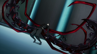 Kaneki's kagune sprouts from his kakuja.png