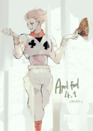 Ishida's illustration of Hisoka from Hunter x Hunter